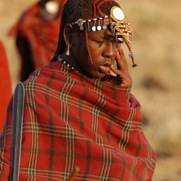 Maasai Tribesman and Masai Mara - Safari and Beach